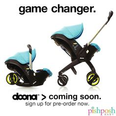 This is the biggest thing to happen to infant car seats in like, ever. The Doona car seat is expected to hit the US by the end of 2014! Pre-order yours NOW! http://www.pishposhbaby.com/doona-car-seat-stroller.html
