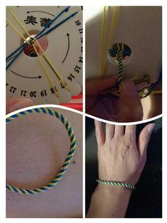 Armband geel/blauw