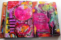 Art Journal Page 'Today Matters' by Jodi Ohl