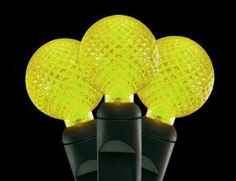 Set of 35 LED Lemon Yellow G12 Berry Fashion Glow Christmas Lights  Green Wire -- Details can be found by clicking on the image.  This link participates in Amazon Service LLC Associates Program, a program designed to let participant earn advertising fees by advertising and linking to Amazon.com.