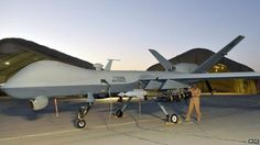 Undated MoD handout photo of an RAF Reaper UAV (Unmanned Aerial Vehicle).