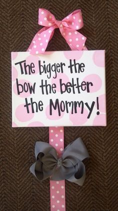Girls Hairbow Organizer for all those big bows. $16.00, via Etsy.