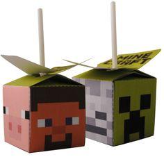 Minecraft doe het zelf feestpakket, printbare knipvellen download je bij www.PrintPret.nl