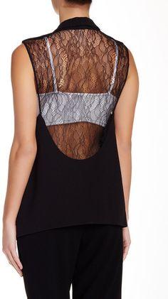 Haute Hippie Lace Back Vest - $81.75