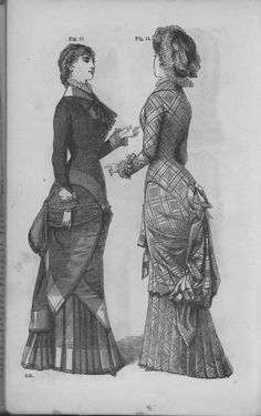 Godey's Lady's Book Volume 101 July To December 1880    Oooh, that tartan dress!