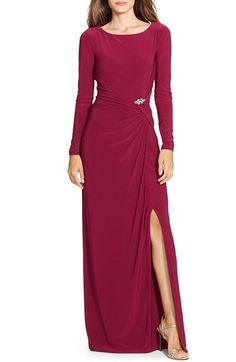 Lauren Ralph Lauren Embellished Jersey Gown available at #Nordstrom