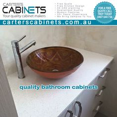 Quality Bathroom Cabinets by Carter's Cabinets Perth We are your local Perth cabinet makers providing quality and affordable bathroom cabinet making services. Modern design, layout and construction. • Free Quote • Free Bathroom Design • 3D CAD planning • Guaranteed Quality • Modern Features • 20+ Years' Experience • We Bring Samples To You Visit: https://carterscabinets.com.au/our-services Call Troy: 0407 644 736 #carterscabinets