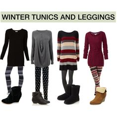 """WINTER TUNICS AND LEGGINGS"" by myvirtuallife on Polyvore"