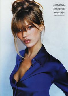 Kate by Mario Testino, 1995. LOVE MARIO TESTINO. Especially his more candid, raw and honest portraits.