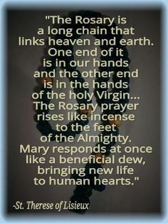 we need to pray the rosary by maura