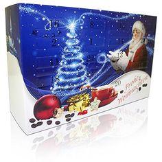 Adventskalender mit hochwertigem Kaffeepads aus aller Welt (BLAU) - Ideal auch als Geschenk in der Vorweihnachtszeit: Amazon.de: Lebensmittel & Getränke