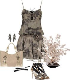 A fashion look from April 2013 featuring short dresses, snakeskin sandals and gold tote bag. Cool Outfits, Summer Outfits, Summer Dresses, Look Fashion, Womens Fashion, Fashion Ideas, Cool Style, My Style, Little Fashionista
