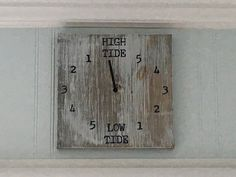 Tide clock, beach decor, beach house decor, clock, high tide, low tide, gift for dad, boating gift, fishing gift, gift for fisherman, father by Ajminteriors on Etsy