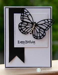 handmade birthday card from Ladybug Designs ... black and ...