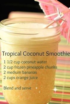 Easy Smoothies, Green Smoothie Recipes, Breakfast Smoothies, Smoothie Drinks, Detox Drinks, Smoothie Recipes For Kids, Smoothie With Orange Juice, Juice Recipes For Kids, Pool Drinks
