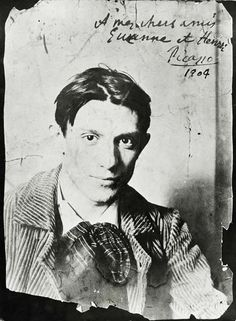 French Photographer, (20th century)-Pablo Picasso (1881-1973), 1904 (b/w photo)