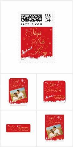 Sleigh Bells Ring Festive Snowflake Santa