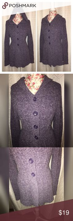 Not for sale SONOMA PURPLE SWEATER SZ LG This beautiful lavender sweater is a size large made by Sonoma it has a hood attached and is 18 inches across the waist and 24 inches at the bottom and 19 inches across the chest and is 30 inches from the shoulders and in excellent condition🎉 Sonoma Sweaters Cardigans