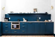 Steal This Look: A Boldly Blue Kitchen in Philadelphia by Jersey Ice Cream Co.