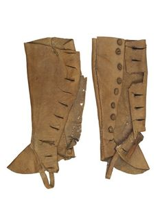 Pair of leather gaiters for artist's lay figure: 18th century, Unknown