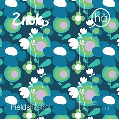 Znokdesign Fields Petrol. Organic knit from Sweden. Scandinavische stof