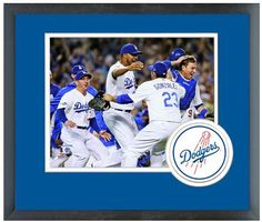 L. A. Dodgers Celebrate Winning Game 4 2013 National League Division Series