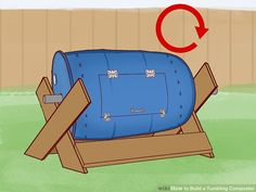 How to Build a Tumbling Composter. One of the keys to successful composting is aeration. Bacteria need oxygen to carry out the aerobic respiration that creates a rich compost. One way to aerate your compost is with a pitchfork or a. Diy Compost Tumbler, Tumbling Composter, Small Flower Gardens, Galvanized Steel Pipe, Barrel Roll, Build A Greenhouse, Tower Garden, Square Foot Gardening, Hydroponic Gardening