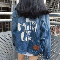 Cheap embroidered denim jacket, Buy Quality denim jacket directly from China denim jacket fashion Suppliers: Back Letters Embroidered Denim Jacket with Single Breasted Jeans Coats for Womens Fashion Jaqueta Feminina Vintage Casaco S-L Coats For Women, Jackets For Women, Harajuku, Oversized Denim Jacket, Denim Jackets, Jean Jackets, Embroidered Denim Jacket, Mode Jeans, Clothes
