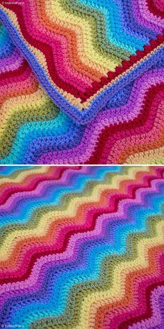 Crochet Ripple Stitch - Free Patterns and Inspiration | Crochetpedia Crochet Ripple Afghan, Afghan Crochet Patterns, Baby Blanket Crochet, Crocheted Afghans, Crochet Poncho, Crochet Blankets, Chevron Baby Blankets, Stitch Crochet, Chevron Crochet