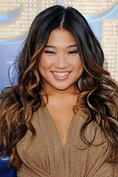dark hair with highlights | glee has black hair like i do and i think her highlights are just ...