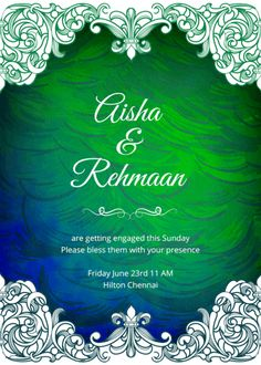 Tradition meets modernity in this wedding invitation, and they seem to get on famously well, aesthetically speaking. Invitation Card Design, Wedding Invitation Design, Invitation Cards, Online Invitations, Custom Invitations, Invites, Indian Wedding Invitations, Indian Party, Getting Engaged