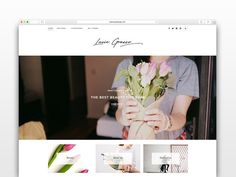 Lucie Grasso - Wordpress blog theme by CityHouseDesign on @creativemarket