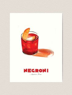 Famous Cocktails, Thing 1, Watercolours, Vintage Cards, Vintage Advertisements, Large Prints, Cocktail Recipes, Artsy Fartsy, Vintage Posters