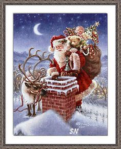 Diamond Painting DIY Santa Father Xmas Cross Stitch Embroidery Perfect to decorate your living room or bedroom to match different decoration style. It is a good gift for your lover,family,friend and coworkers. We believe you will love it very much! Christmas Scenes, Vintage Christmas Cards, Santa Christmas, Winter Christmas, Christmas Holidays, Halloween Christmas, Christmas Drawing, Christmas Morning, Christmas Cross