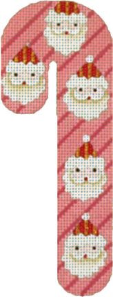 Melissa Shirley Designs | Hand Painted Needlepoint | Santa Candy Cane