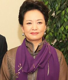"Peng Liyuan: Renowned Chinese contemporary folk singer and performing artist. She is the wife of Chinese President Xi Jinping, and as such referred to as the ""Chinese First Lady"" by American and Chinese media."