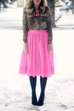 Pink & leopard.