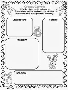 """Tried it Tuesday - New Book as an alternate to Halloween  """"Creepy Carrots"""" - includes free graphic organizers and a link to a video clip"""