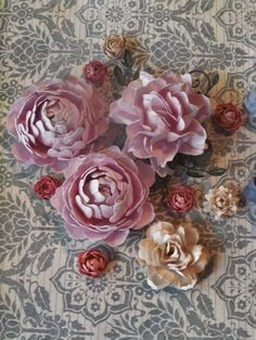 Flowers made with Cheery Lynn Designs dies by The Altered Muse Studio