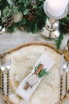 Winter wedding place setting! We can recreate this look for you! www.creativeambianceevents.com Check out our winter wedding blog! http://www.creativeambianceevents.com/#!5-Reasons-Why-You-Shouldnt-Count-Out-Having-a-Winter-Wedding/c1oj1/57ab4b5a0cf2911bc51f261d