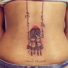 Tiny Wrist Tattoos, Infinity Tattoos, Best Friend Tattoos, Family Tattoos, Sister Tattoos, Body Art Tattoos, Tattoo Amigas, Swing Tattoo, Sister Tattoo Designs