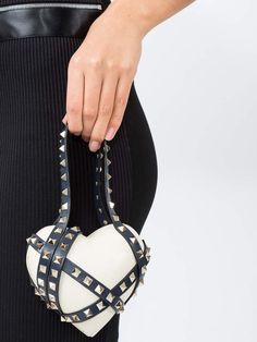 5aee1466b Valentino White rockstud heart bag - The Webster | White bag from Valentino  featuring a heart