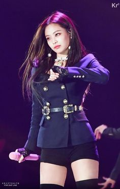 Hot & Spicy Photo& of Jennie Blackpink Stage Outfits, Kpop Outfits, Baby Outfits, Kpop Girl Groups, Korean Girl Groups, Kpop Girls, Blackpink Jennie, Blackpink Fashion, Korean Fashion