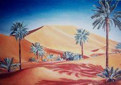 """""""Il deserto"""" di R. Mendicino (olio su tela) 25x40"""
