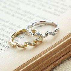 優雅女爵 螺旋造型鑲鑽 戒指