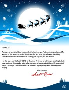 Create a personalized letter from Santa Claus.