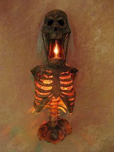 "Torso of Terror Sconce, 19"" tall, Corpse, Halloween Prop, NEW"