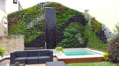Ideas verdes, ideas que ayudan al planeta. - Jardín vertical realizado por un alumno de Paisajismo Urbano.