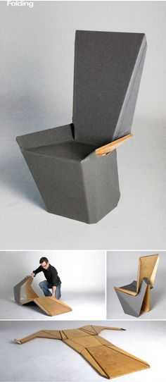 Origami design furniture cardboard chair 25 best Ideas – My World Folding Furniture, Origami Furniture, Design Furniture, Folding Chair, Chair Design, Diy Furniture, Paper Folding, Origami Folding, Furniture Websites
