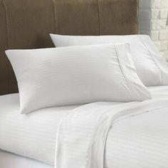 The Twillery Co. Erion Comforter Set & Reviews   Wayfair Cotton Sheets, Cotton Sheet Sets, Best Sheet Sets, Best Sheets, Most Comfortable Sheets, Striped Bedding, Coastal Bedding, Guest Bedrooms